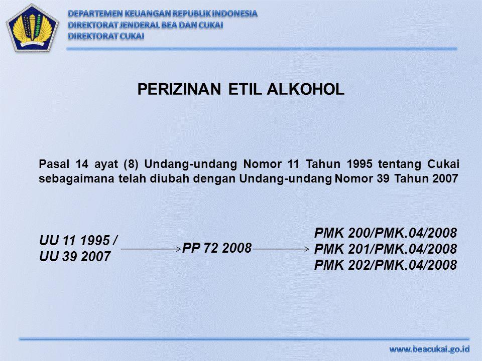 PERIZINAN ETIL ALKOHOL