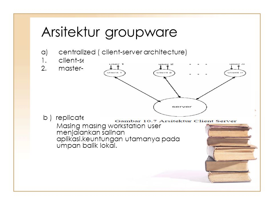 Arsitektur groupware centralized ( client-server architecture)