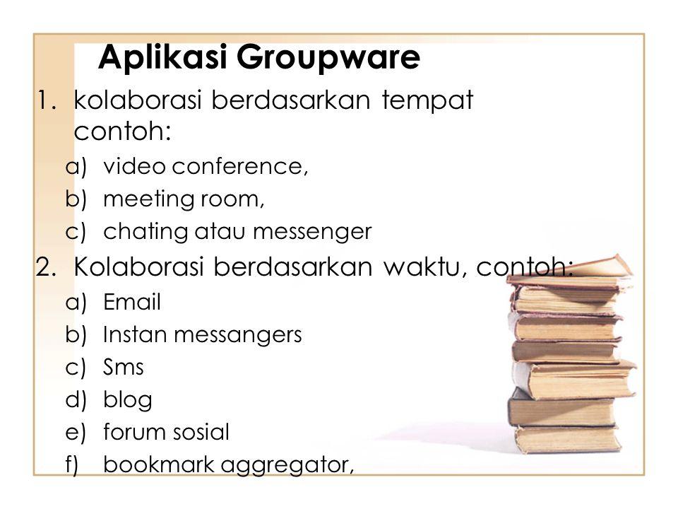 Aplikasi Groupware kolaborasi berdasarkan tempat contoh: