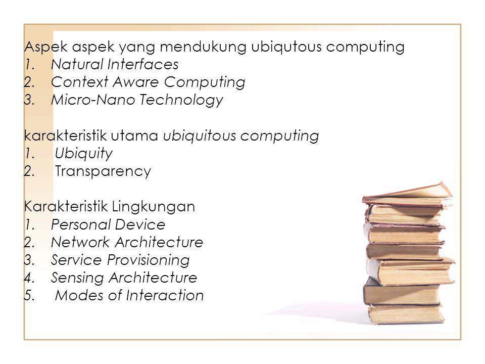 Aspek aspek yang mendukung ubiqutous computing