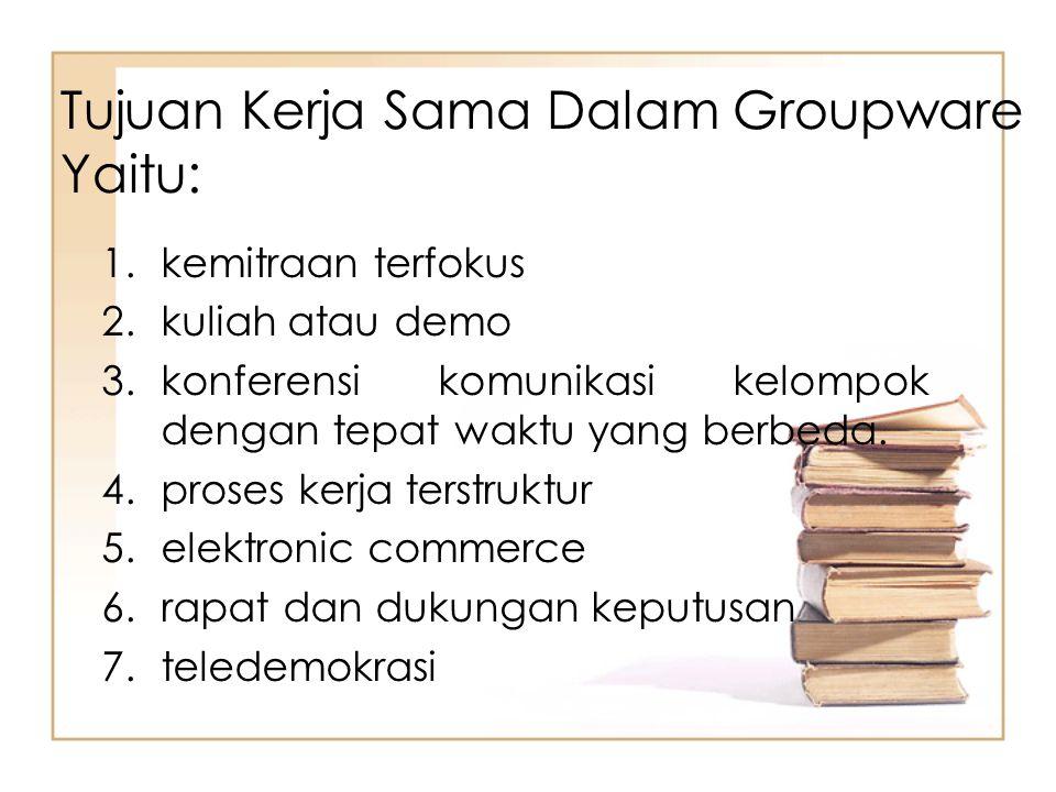 Tujuan Kerja Sama Dalam Groupware Yaitu: