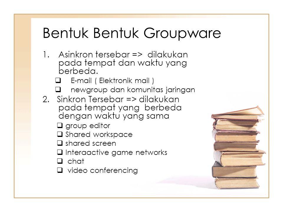 Bentuk Bentuk Groupware