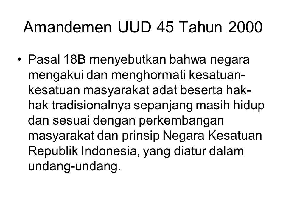 Amandemen UUD 45 Tahun 2000