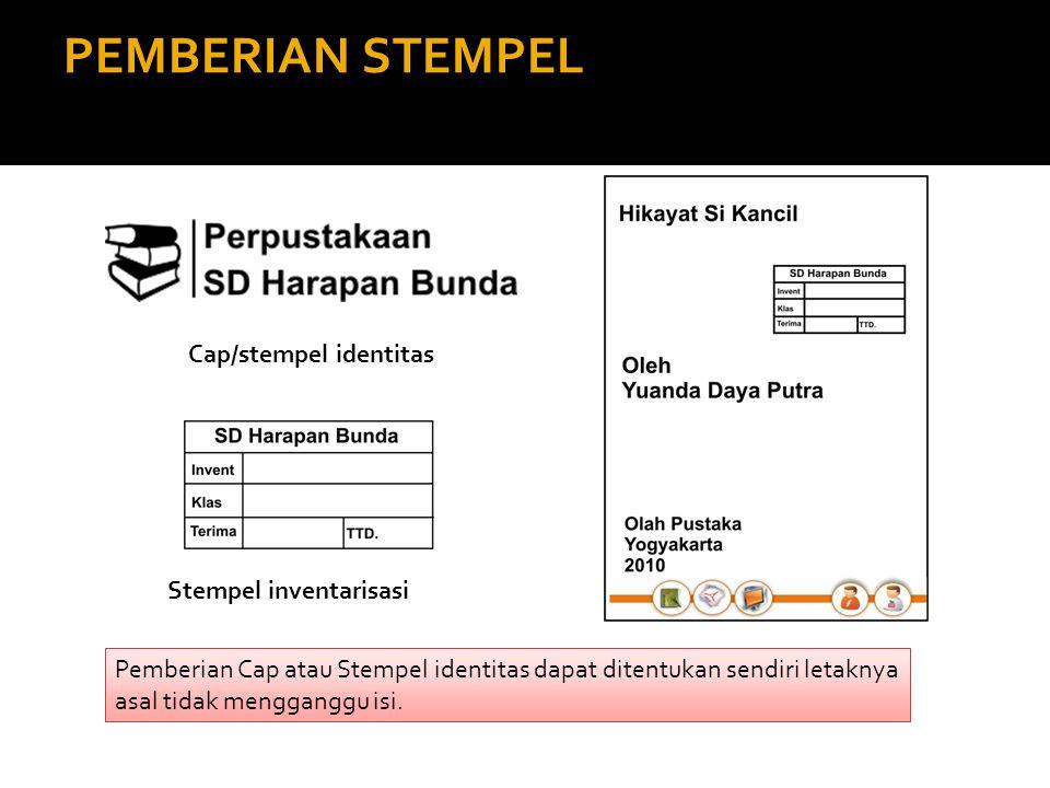 Cap/stempel identitas