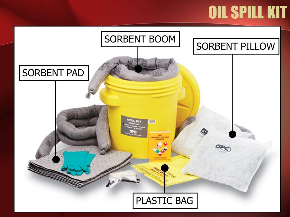 OIL SPILL KIT SORBENT BOOM SORBENT PILLOW SORBENT PAD PLASTIC BAG