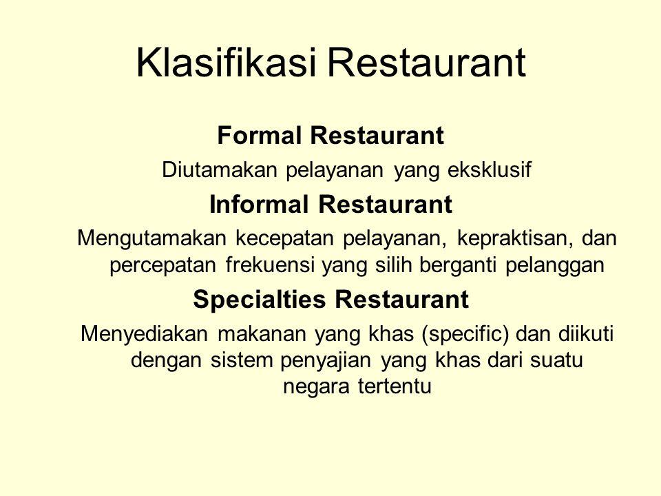 Klasifikasi Restaurant
