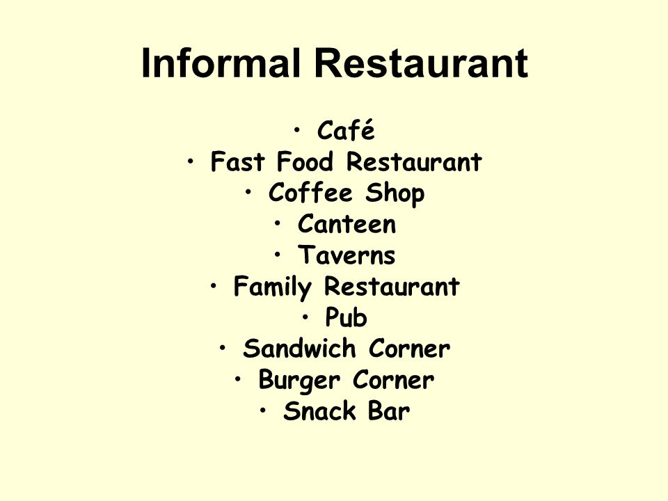 Informal Restaurant Café Fast Food Restaurant Coffee Shop Canteen