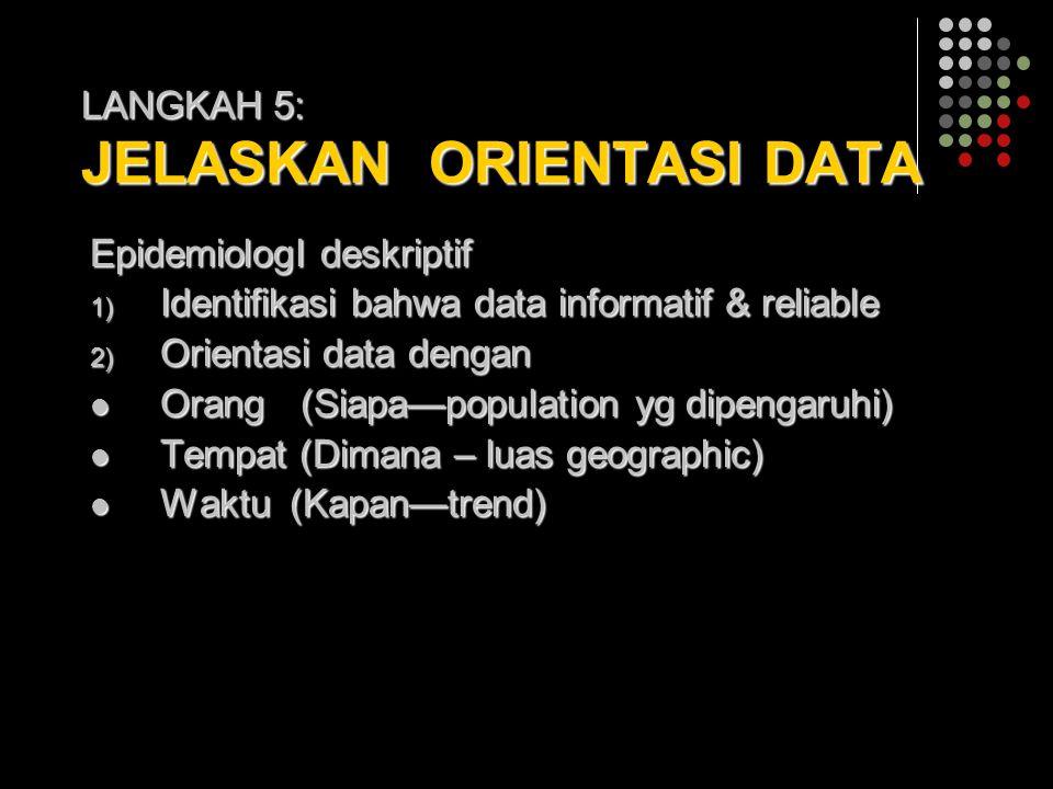 LANGKAH 5: JELASKAN ORIENTASI DATA