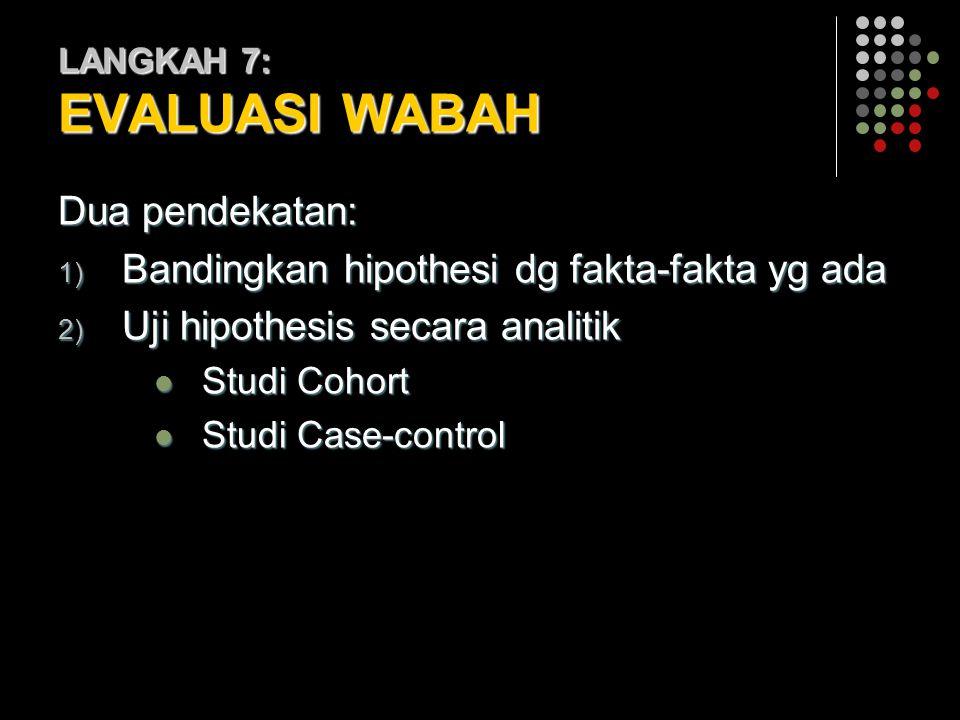 LANGKAH 7: EVALUASI WABAH