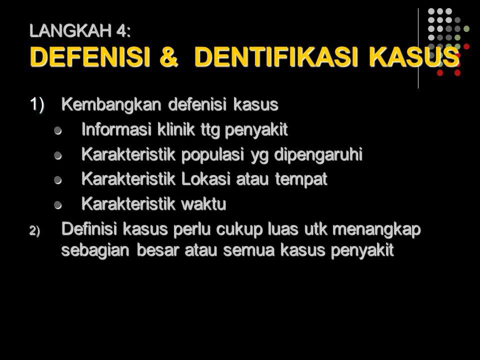LANGKAH 4: DEFENISI & DENTIFIKASI KASUS