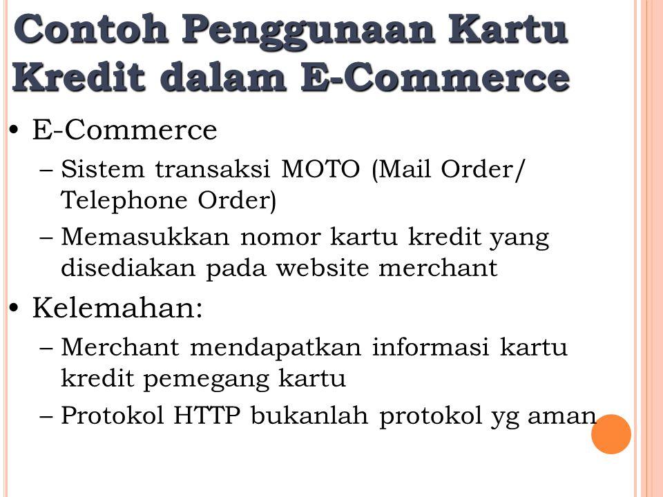 Contoh Penggunaan Kartu Kredit dalam E-Commerce