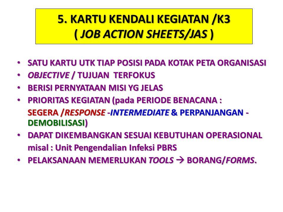 5. KARTU KENDALI KEGIATAN /K3 ( JOB ACTION SHEETS/JAS )