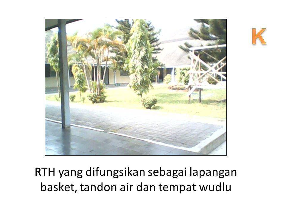 K RTH yang difungsikan sebagai lapangan basket, tandon air dan tempat wudlu