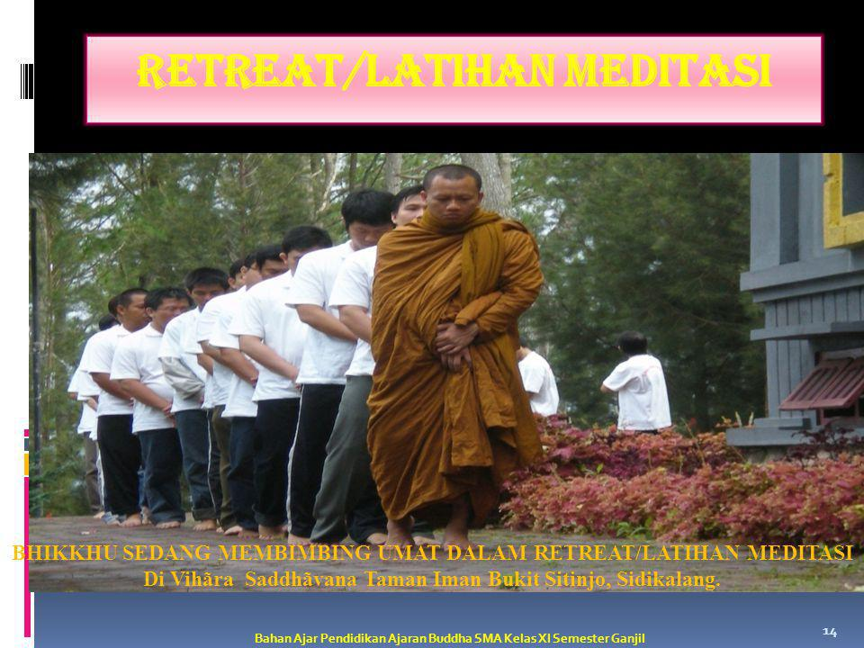 RETREAT/LATIHAN MEDITASI