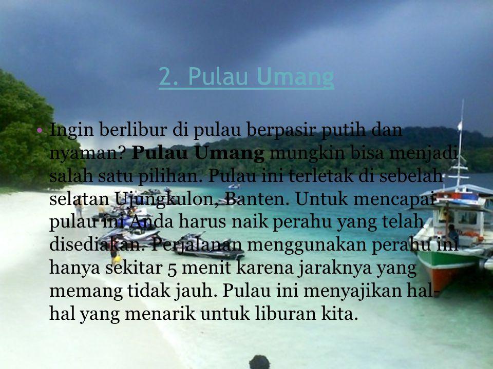 2. Pulau Umang