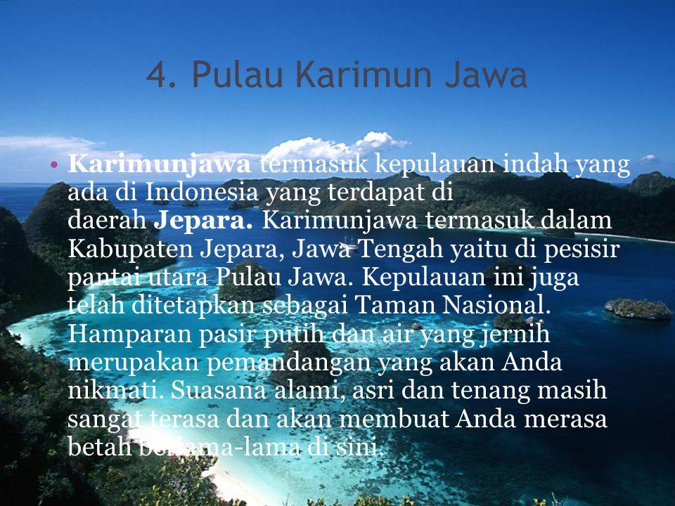 4. Pulau Karimun Jawa