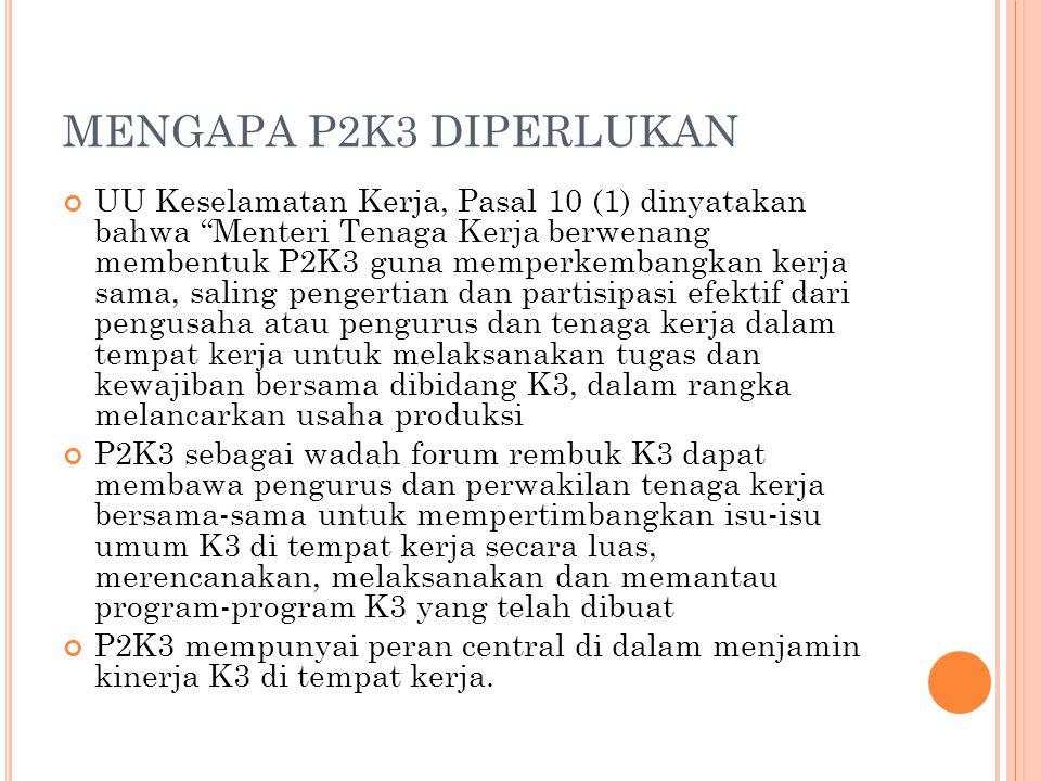 MENGAPA P2K3 DIPERLUKAN