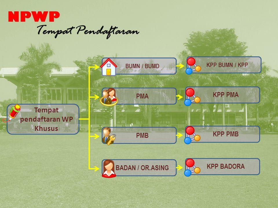 Tempat Pendaftaran NPWP khusus
