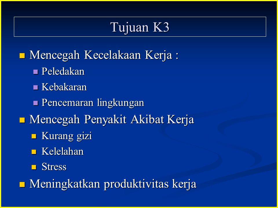 Tujuan K3 Mencegah Kecelakaan Kerja : Mencegah Penyakit Akibat Kerja