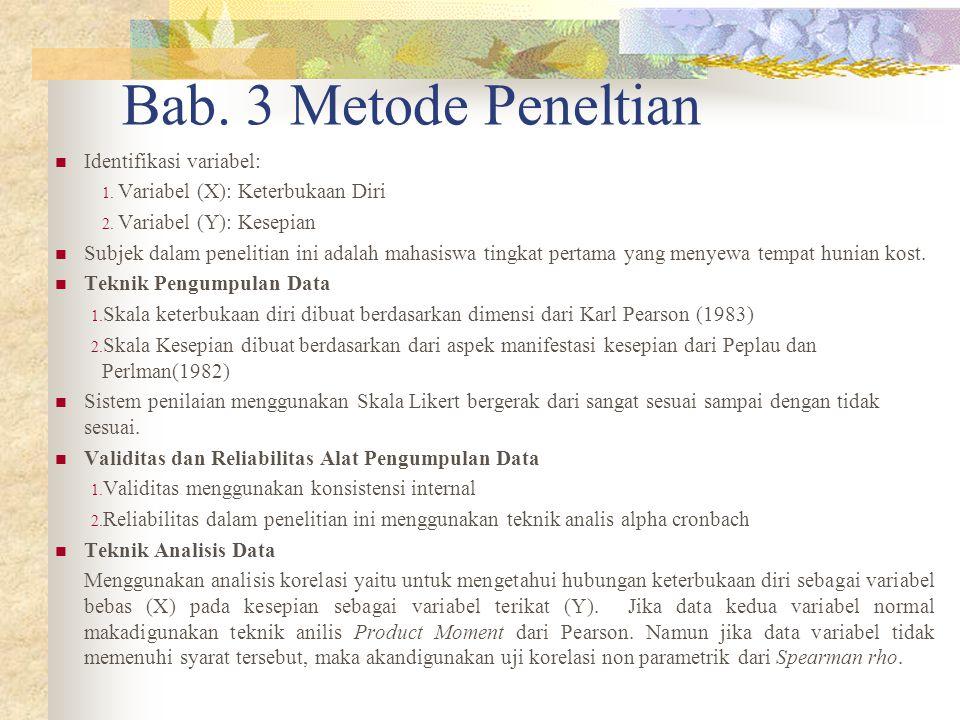 Bab. 3 Metode Peneltian Identifikasi variabel: