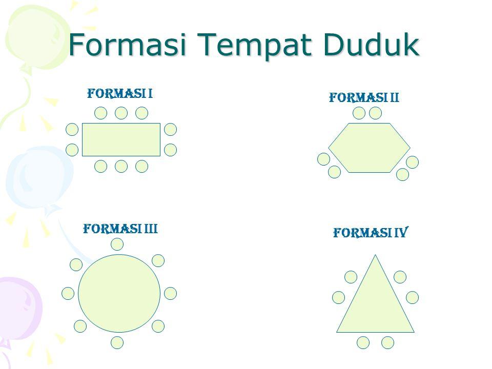Formasi Tempat Duduk FORMASI I FORMASI Ii FORMASI Iii FORMASI Iv