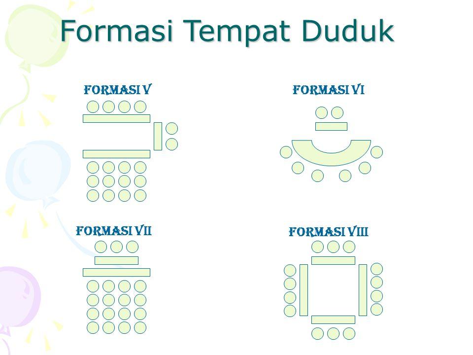 Formasi Tempat Duduk FORMASI V FORMASI VI FORMASI VII FORMASI VIII