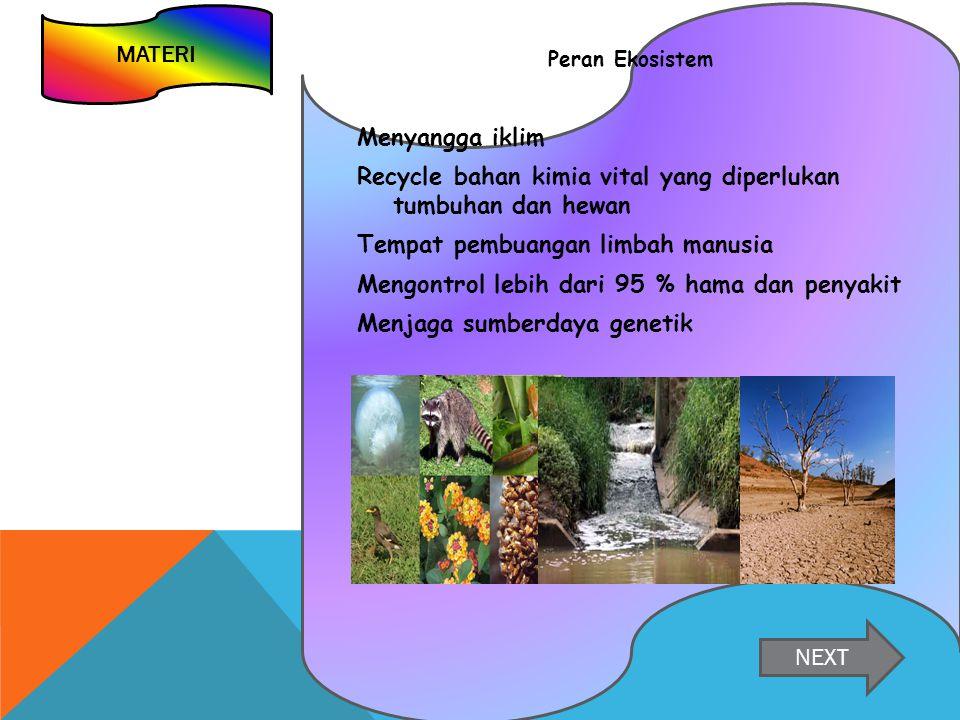 Recycle bahan kimia vital yang diperlukan tumbuhan dan hewan