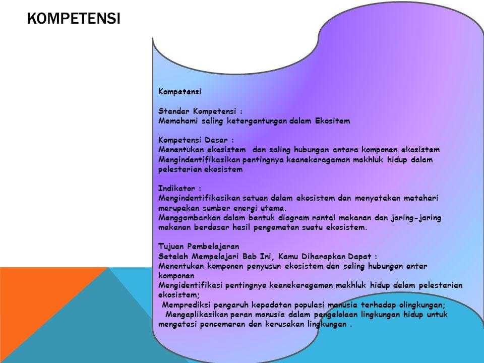KOMPETENSI Kompetensi Standar Kompetensi :