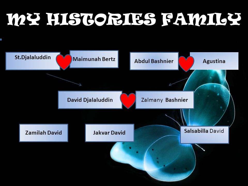 MY HISTORIES FAMILY Maimunah Bertz St.Djalaluddin Abdul Bashnier