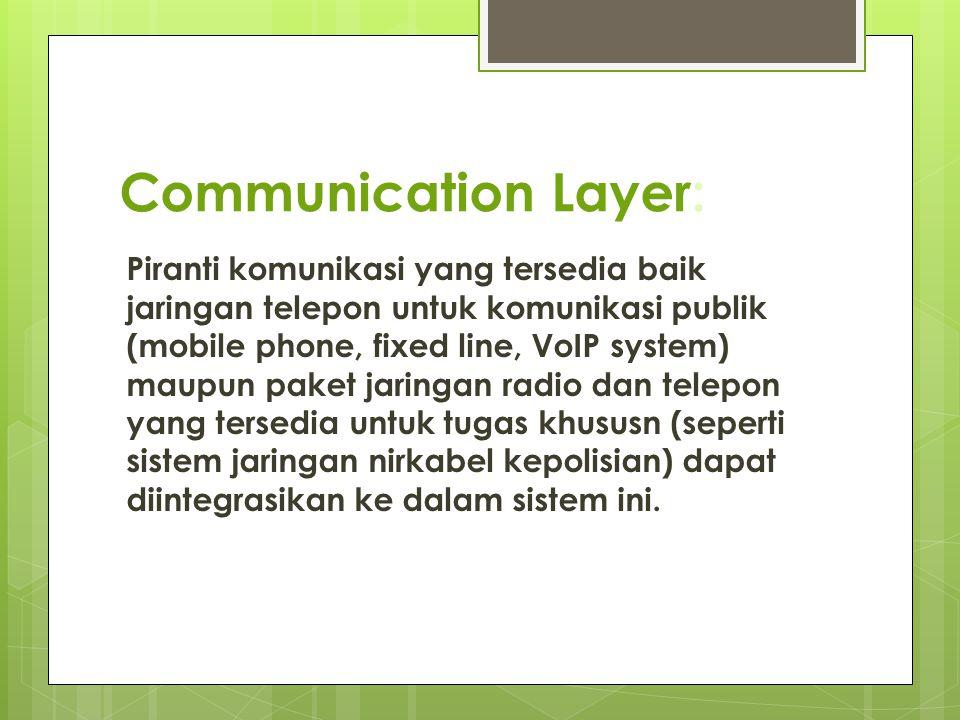 Communication Layer: