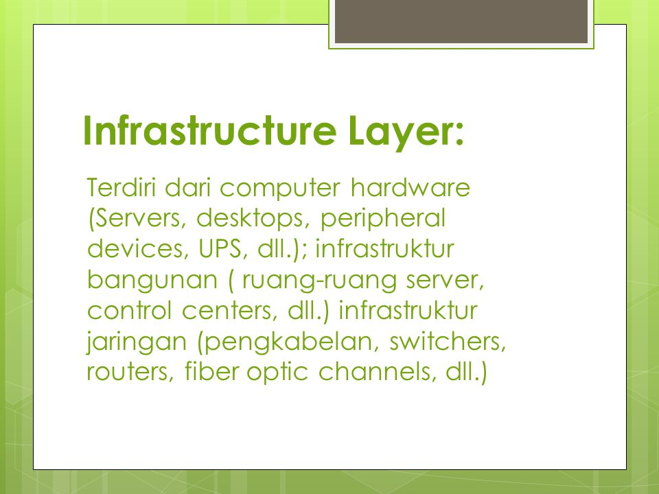 Infrastructure Layer: