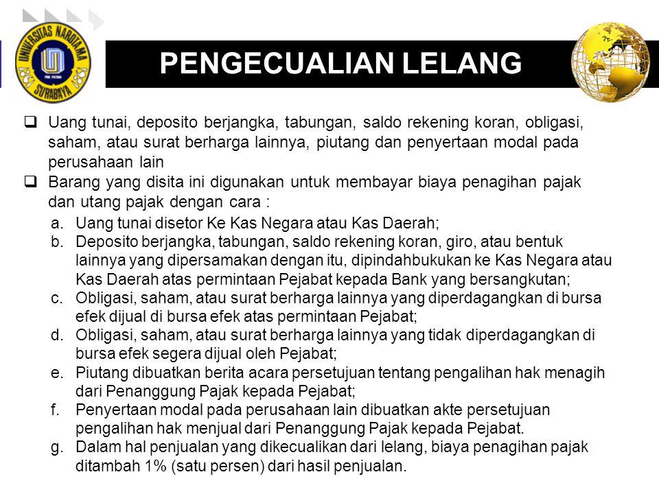 PENGECUALIAN LELANG
