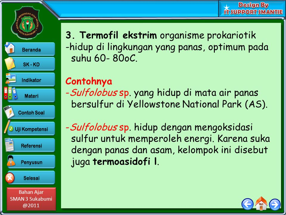 3. Termofil ekstrim organisme prokariotik