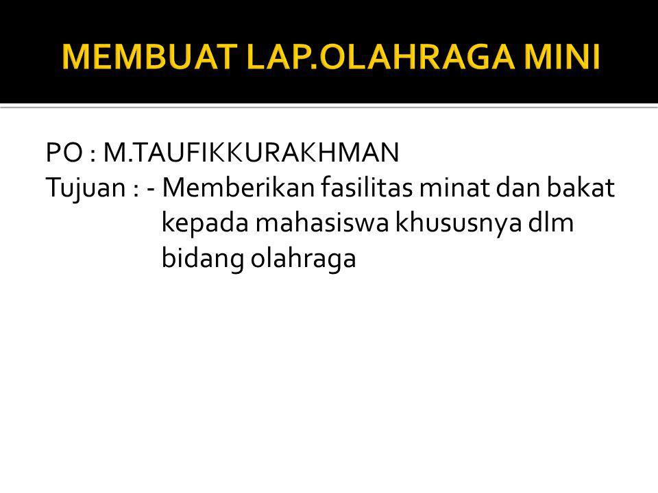 MEMBUAT LAP.OLAHRAGA MINI