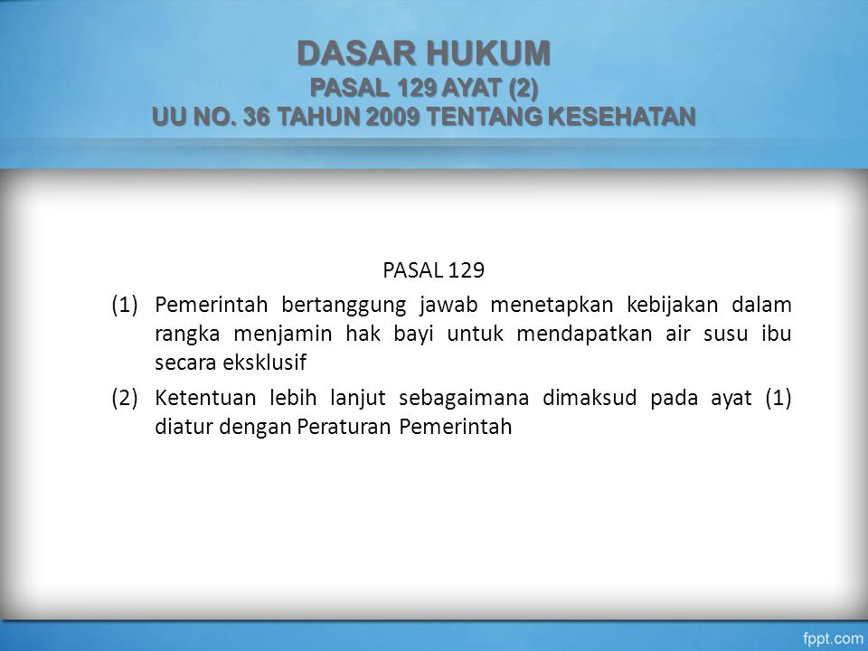 UU NO. 36 TAHUN 2009 TENTANG KESEHATAN