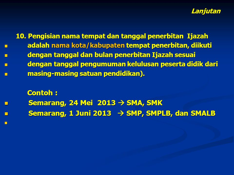 Semarang, 1 Juni 2013  SMP, SMPLB, dan SMALB