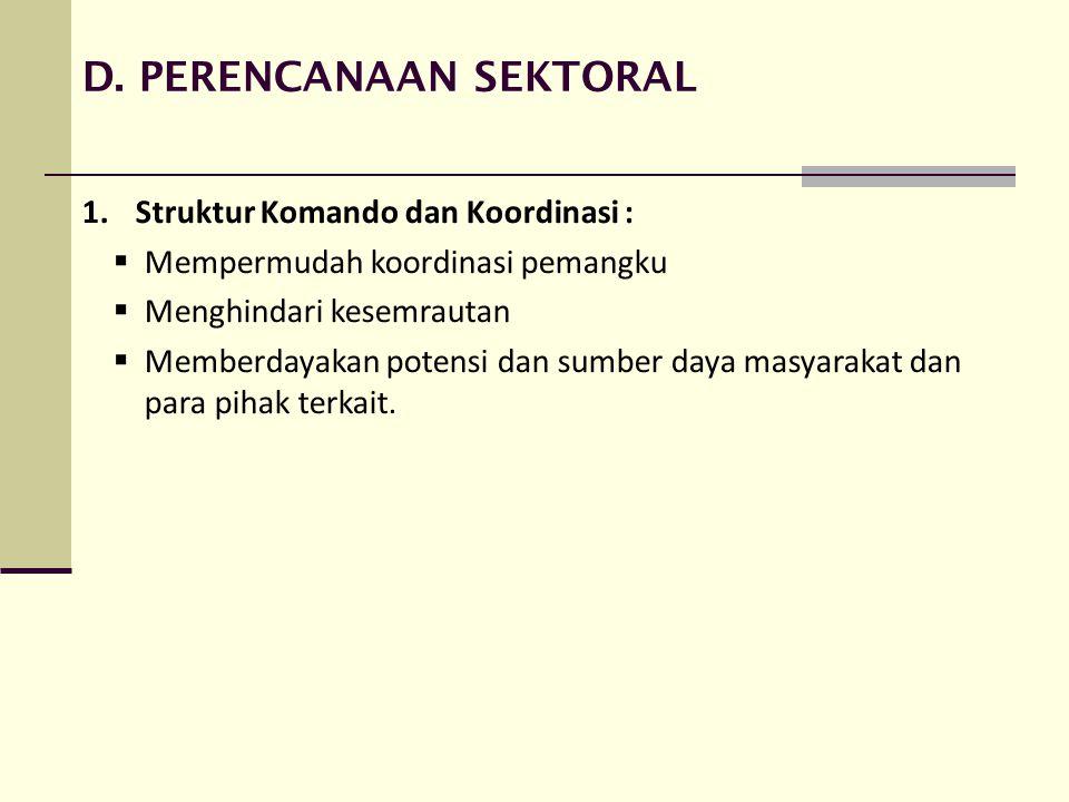 D. PERENCANAAN SEKTORAL