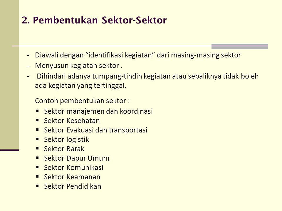 2. Pembentukan Sektor-Sektor
