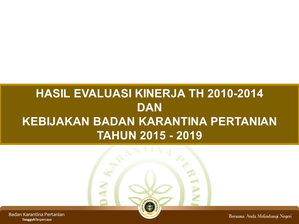 HASIL EVALUASI KINERJA TH 2010-2014 DAN