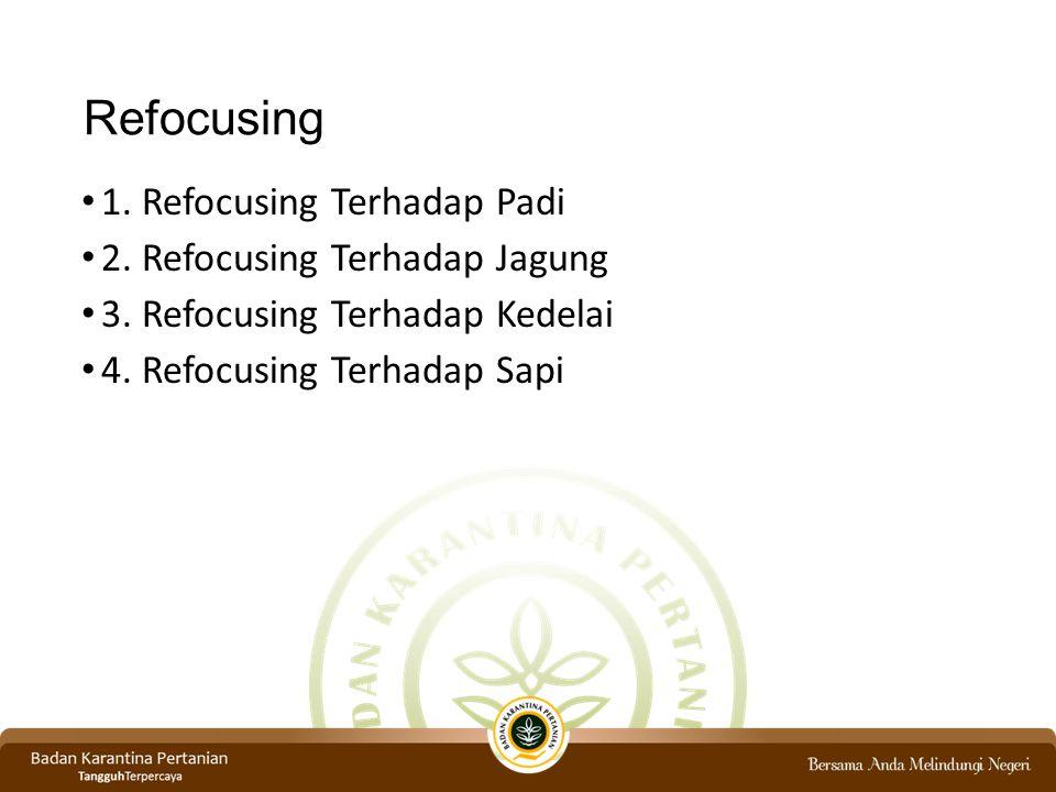 Refocusing 1. Refocusing Terhadap Padi 2. Refocusing Terhadap Jagung
