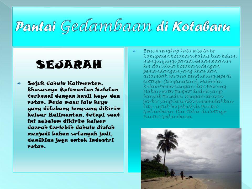 Pantai Gedambaan di Kotabaru
