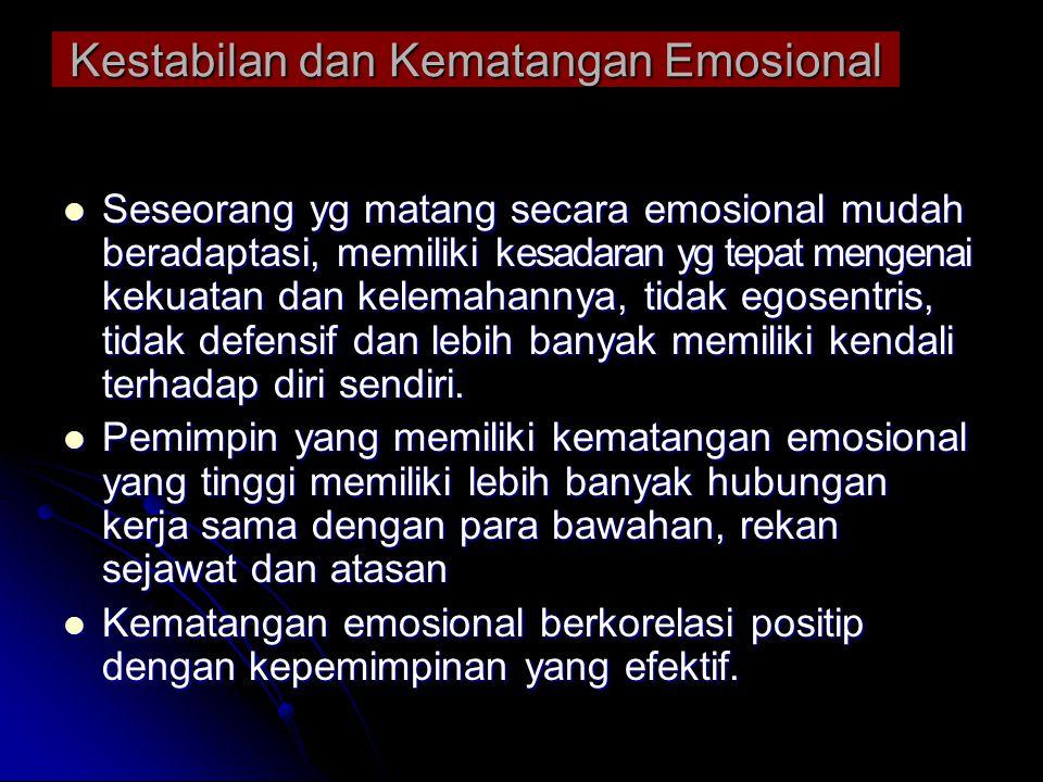 Kestabilan dan Kematangan Emosional