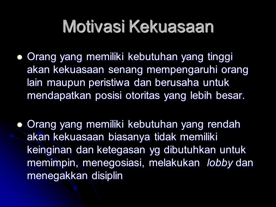 Motivasi Kekuasaan