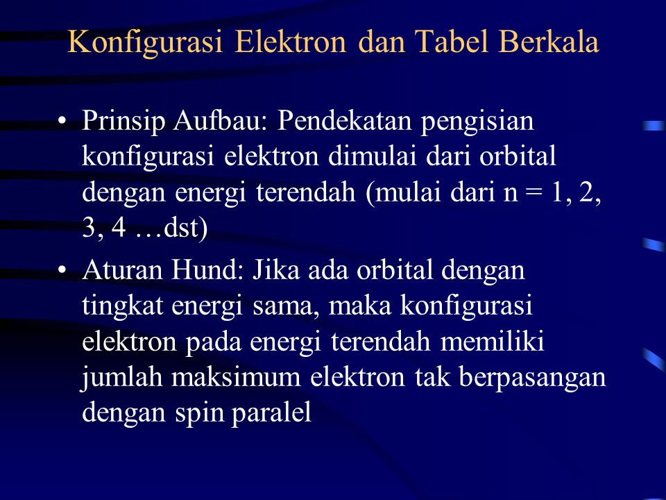 Konfigurasi Elektron dan Tabel Berkala