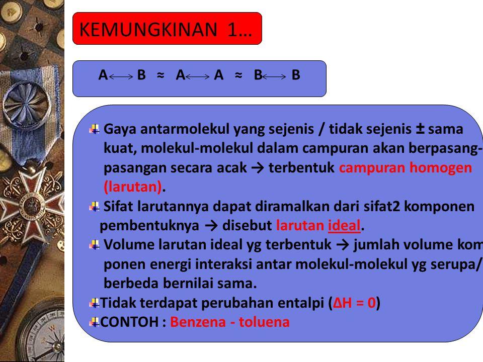 KEMUNGKINAN 1… A B ≈ A A ≈ B B