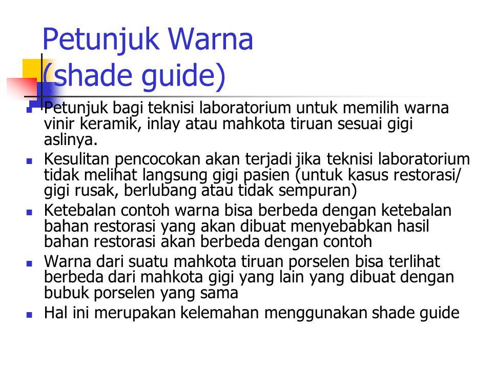 Petunjuk Warna (shade guide)