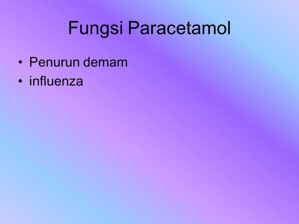 Fungsi Paracetamol Penurun demam influenza