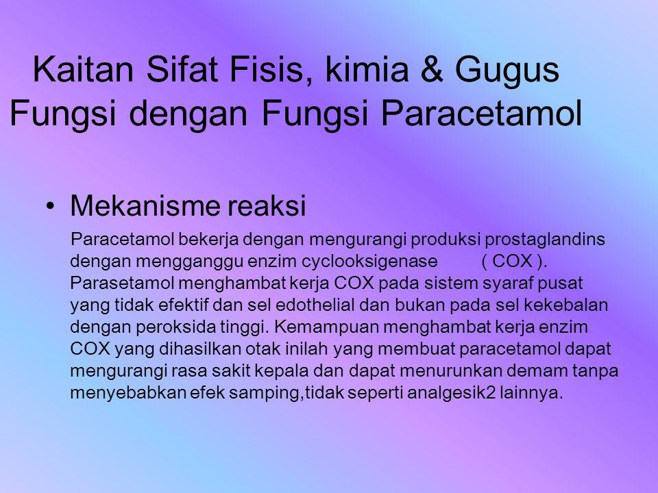Kaitan Sifat Fisis, kimia & Gugus Fungsi dengan Fungsi Paracetamol