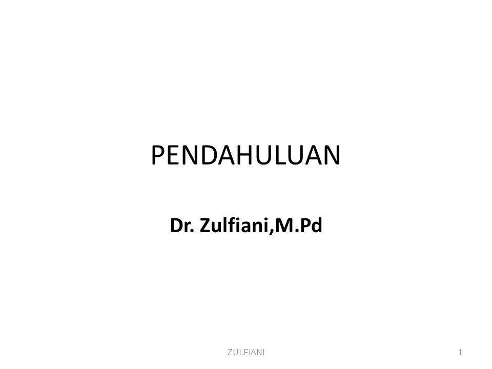 ZULFIANI Dr. Zulfiani,M.Pd