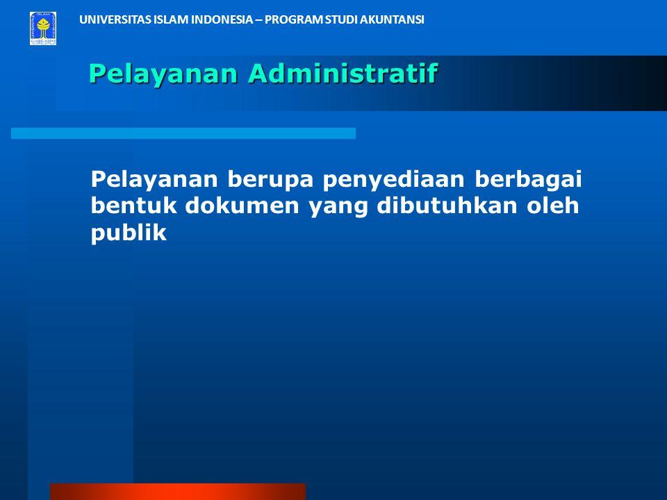 Pelayanan Administratif